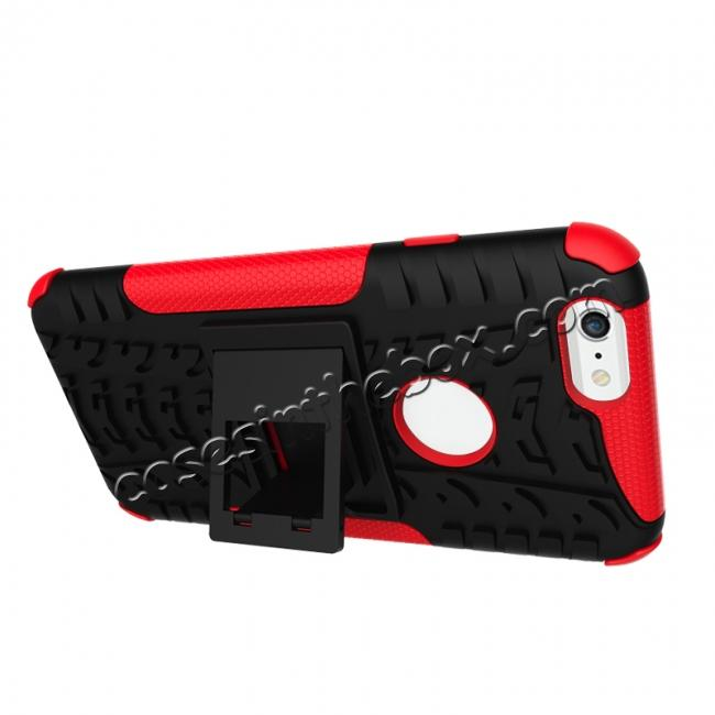 discount Hyun Pattern Dual Layer Hybrid Shockproof Case Cover for iPhone 6s - Red