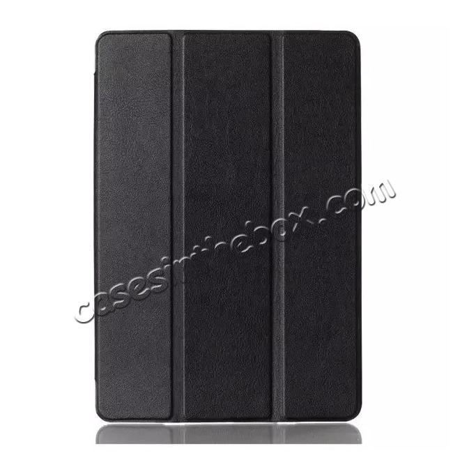 discount Ultra thin Smart 3-Folding Stand Leather Case For iPad mini 4 - Black