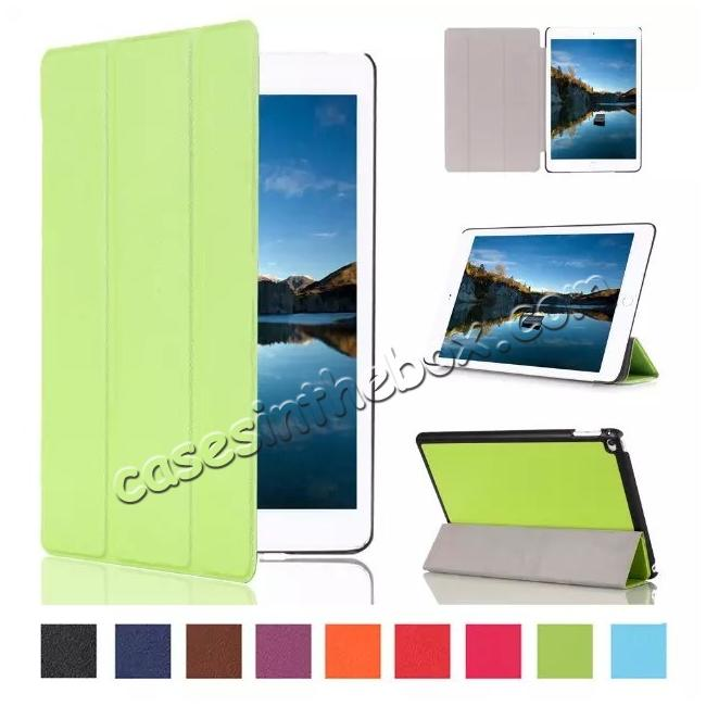 wholesale Ultra thin Smart 3-Folding Stand Leather Case For iPad mini 4 - Green