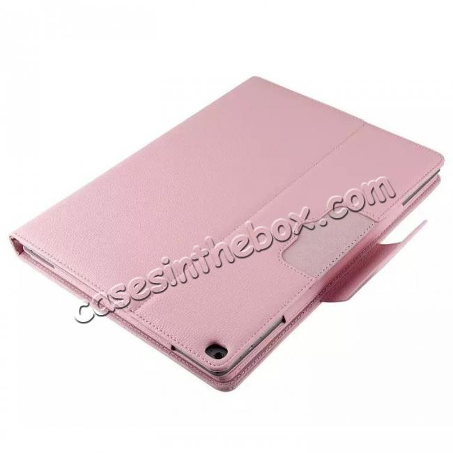 on sale Detachable Wireless Bluetooth Keyboard Stand Leather Case For iPad Pro 12.9 Inch - Pink