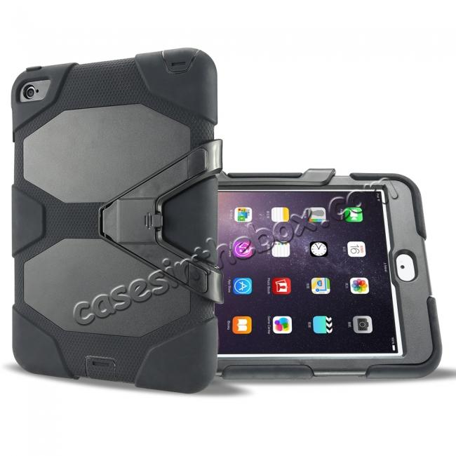top quality Rugged Dual Layer ShockProof Protect Case Cover For iPad mini 4 - Black