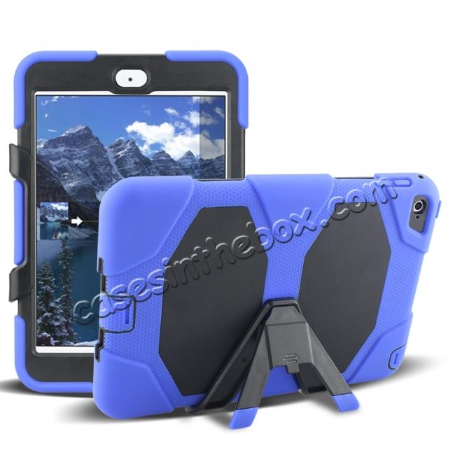 wholesale Rugged Dual Layer ShockProof Protect Case Cover For iPad mini 4 - Blue