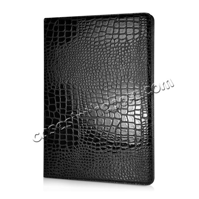 discount Alligator Pattern Flip Stand Leather Case For iPad Pro 12.9 inch With Card Slots - Black