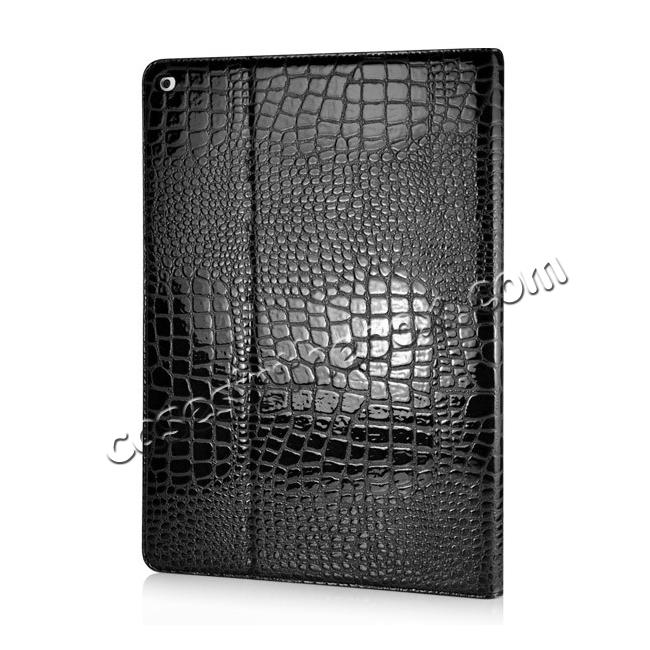 cheap Alligator Pattern Flip Stand Leather Case For iPad Pro 12.9 inch With Card Slots - Black