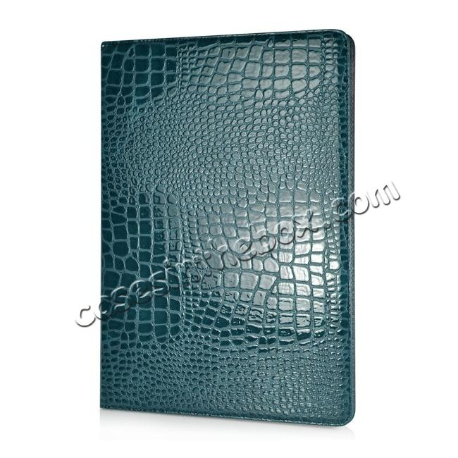 discount Alligator Pattern Flip Stand Leather Case For iPad Pro 12.9 inch With Card Slots - Blue