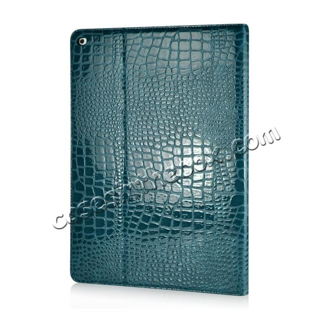 cheap Alligator Pattern Flip Stand Leather Case For iPad Pro 12.9 inch With Card Slots - Blue