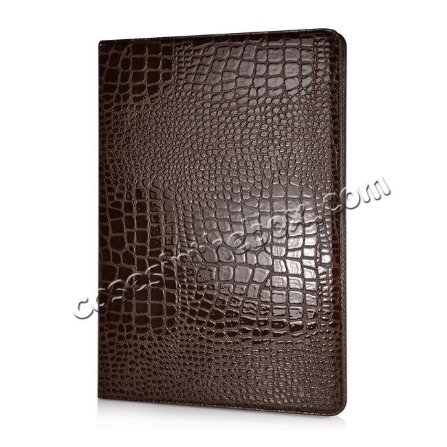 discount Alligator Pattern Flip Stand Leather Case For iPad Pro 12.9 inch With Card Slots - Brown