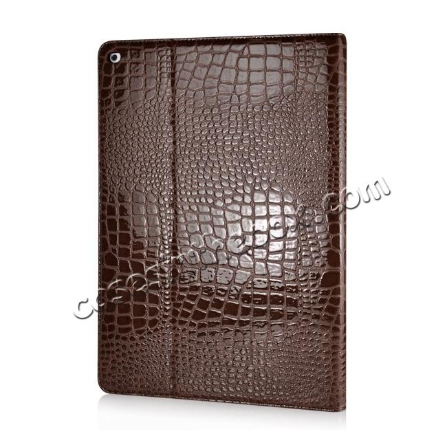 cheap Alligator Pattern Flip Stand Leather Case For iPad Pro 12.9 inch With Card Slots - Brown