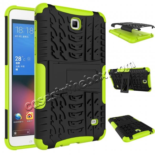 discount Rugged Hybrid Dual Layer Case with Kickstand for Samsung Galaxy Tab 4 7.0 T230 - Green