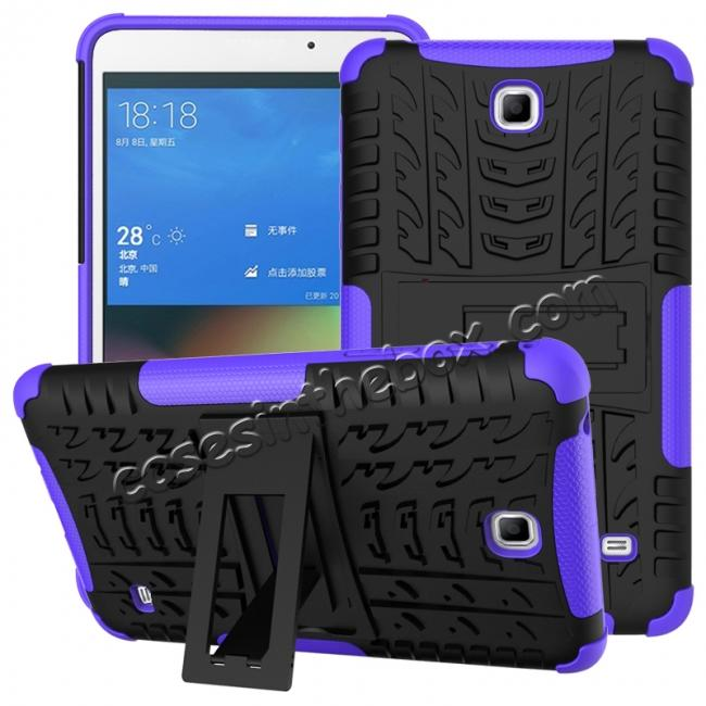 wholesale Rugged Hybrid Dual Layer Case with Kickstand for Samsung Galaxy Tab 4 7.0 T230 - Purple