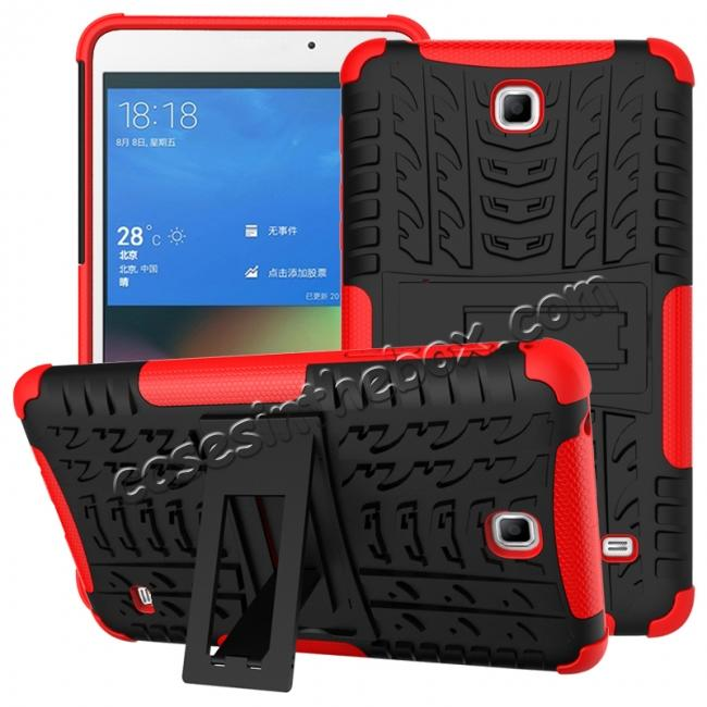 wholesale Rugged Hybrid Dual Layer Case with Kickstand for Samsung Galaxy Tab 4 7.0 T230 - Red