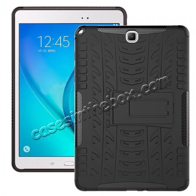 wholesale Shockproof Dual Layer Hybrid Kickstand Case For Samsung Galaxy Tab A 9.7 T550 - Black