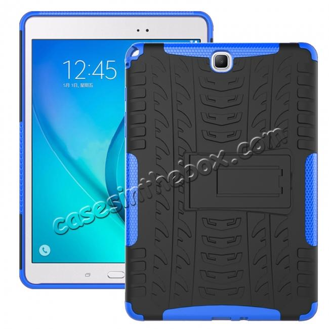wholesale Shockproof Dual Layer Hybrid Kickstand Case For Samsung Galaxy Tab A 9.7 T550 - Blue