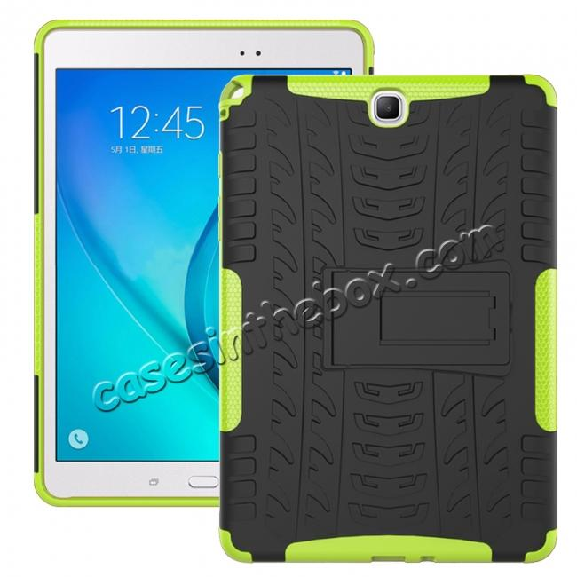 wholesale Shockproof Dual Layer Hybrid Kickstand Case For Samsung Galaxy Tab A 9.7 T550 - Green