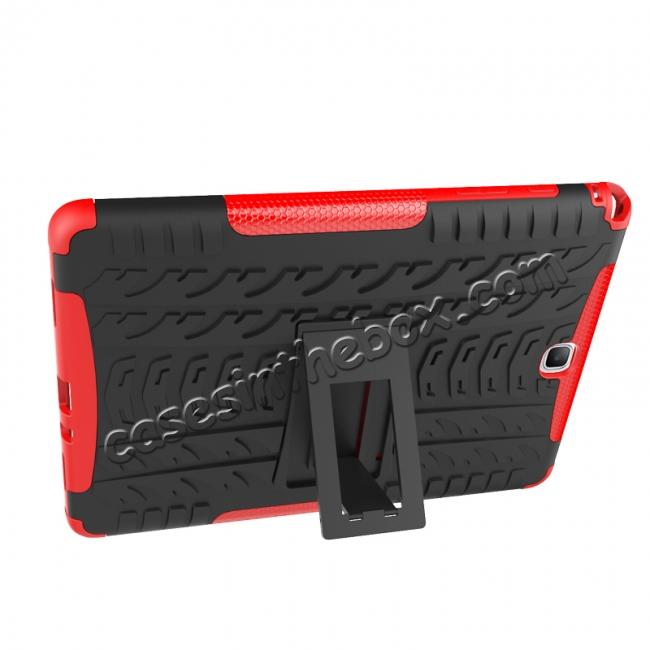 on sale Shockproof Dual Layer Hybrid Kickstand Case For Samsung Galaxy Tab A 9.7 T550 - Red