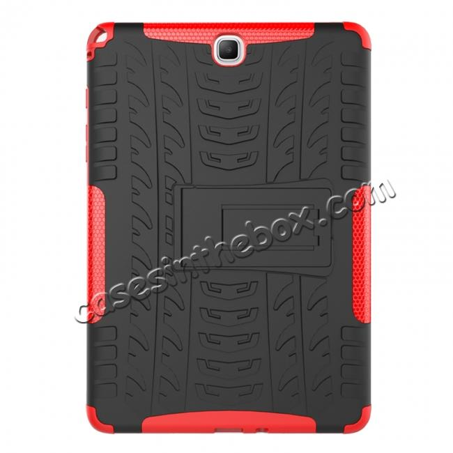 best price Shockproof Dual Layer Hybrid Kickstand Case For Samsung Galaxy Tab A 9.7 T550 - Red