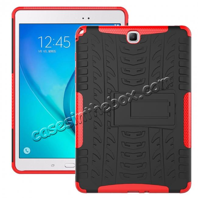wholesale Shockproof Dual Layer Hybrid Kickstand Case For Samsung Galaxy Tab A 9.7 T550 - Red