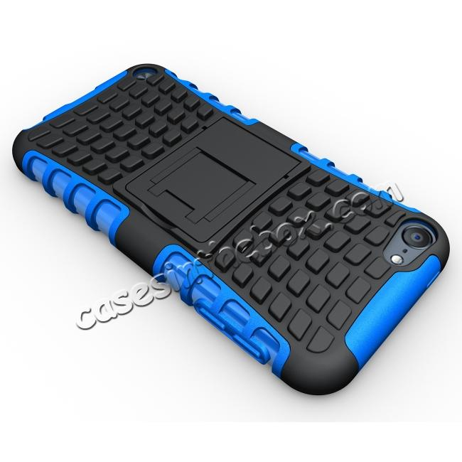 top quality Armor Kickstand Hard & Soft Rubber Hybrid Case Cover For Apple iPod Touch 6th Gen - Blue