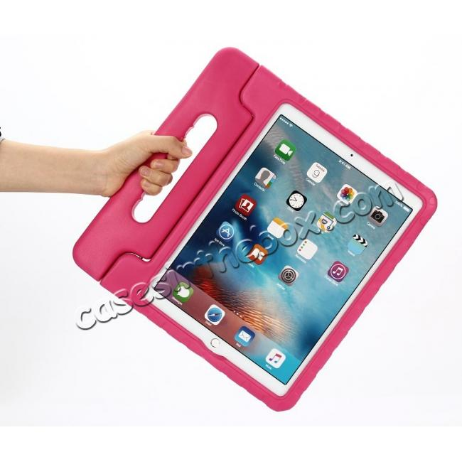 cheap EVA Foam ShockProof Case Stand Cover w/Handle For iPad Pro 12.9 - Hot pink