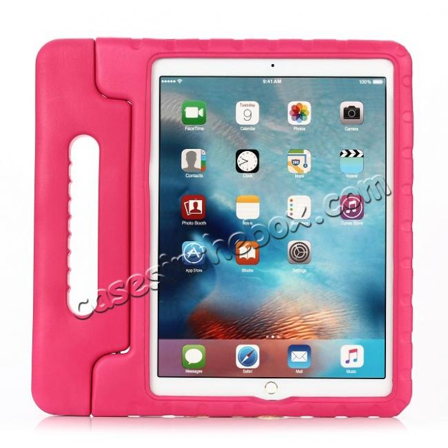 wholesale EVA Foam ShockProof Case Stand Cover w/Handle For iPad Pro 12.9 - Hot pink