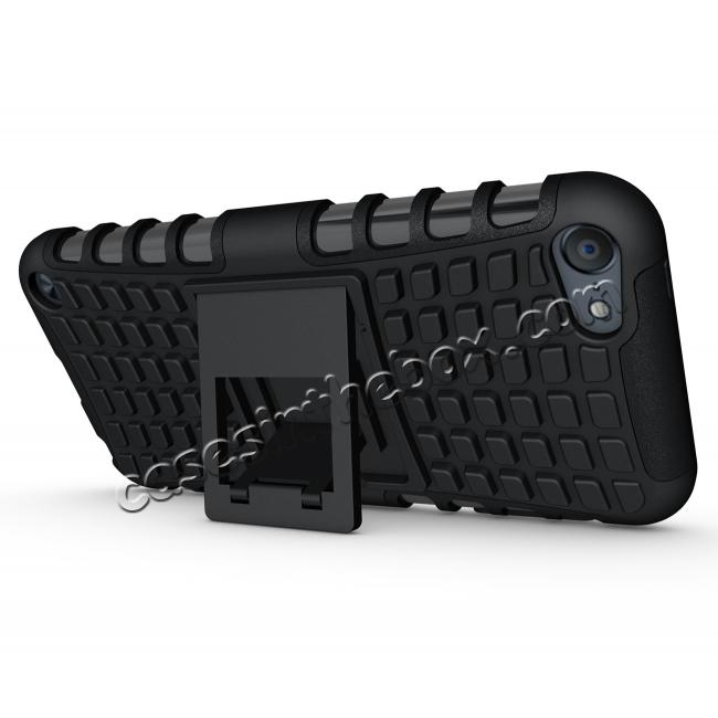 cheap Shockproof Dual Layer Hybrid Armor Kickstand Case For Apple iPod Touch 5th Gen - Black