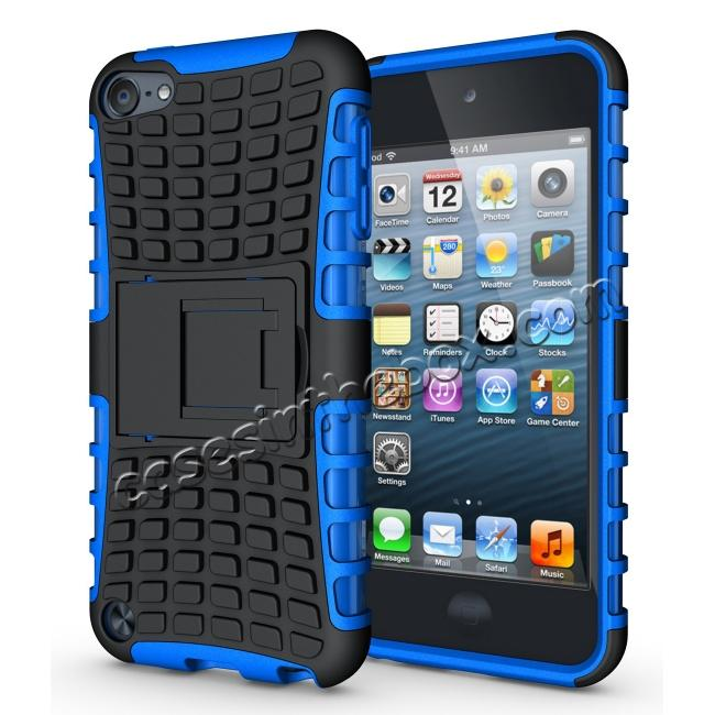 wholesale Shockproof Dual Layer Hybrid Armor Kickstand Case For Apple iPod Touch 5th Gen - Blue
