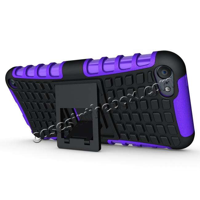 cheap Shockproof Dual Layer Hybrid Armor Kickstand Case For Apple iPod Touch 5th Gen - Purple