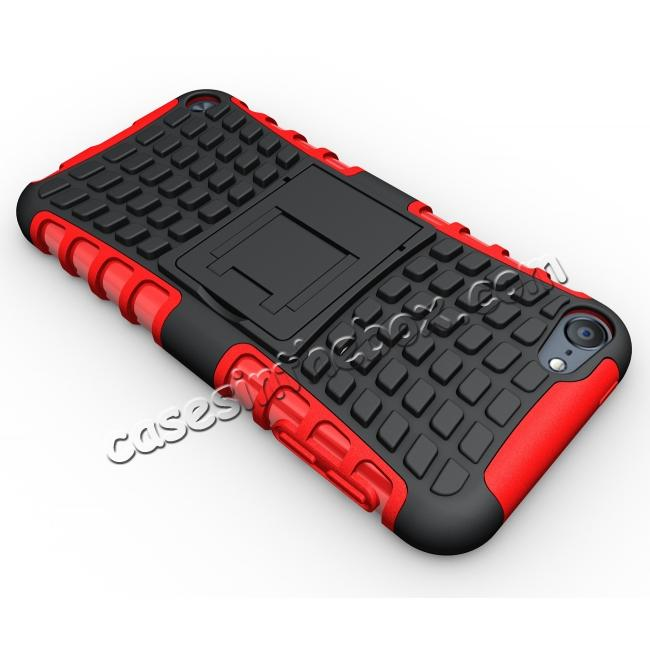 top quality Shockproof Dual Layer Hybrid Armor Kickstand Case For Apple iPod Touch 5th Gen - Red