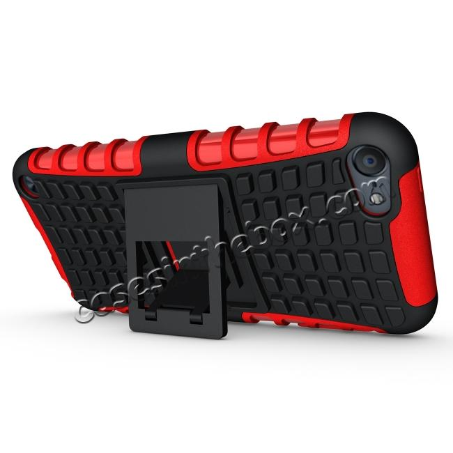 cheap Shockproof Dual Layer Hybrid Armor Kickstand Case For Apple iPod Touch 5th Gen - Red