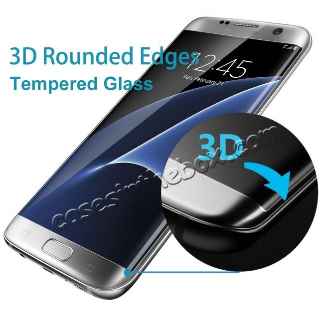 top quality 3D Rounded Edge Tempered Glass Screen Protector Film For Samsung Galaxy S7 Edge