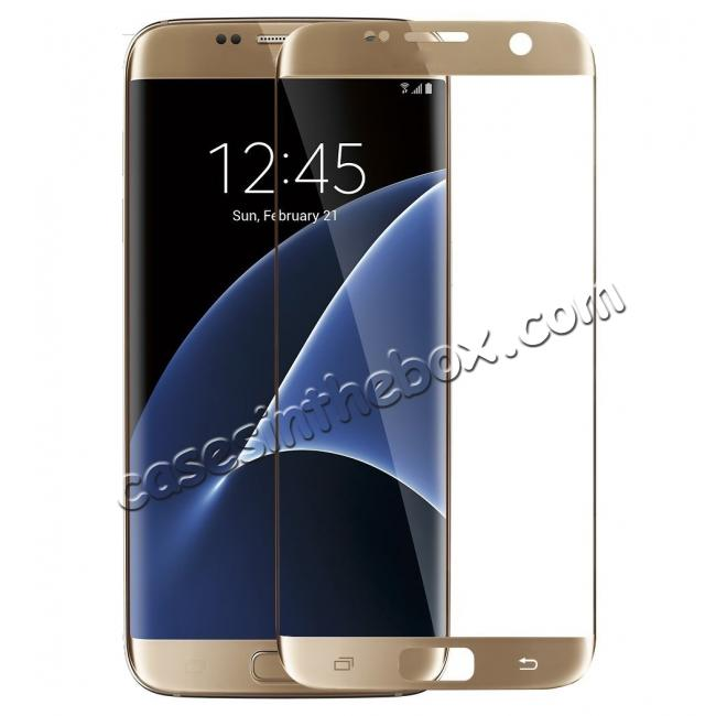 wholesale 3D Rounded Edge Tempered Glass Screen Protector Film For Samsung Galaxy S7 Edge