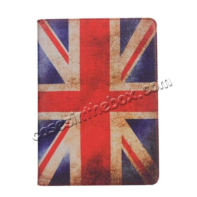 top quality 360 Degree Rotatary Retro UK Flag Pattern Leather Case for iPad Pro 9.7inch