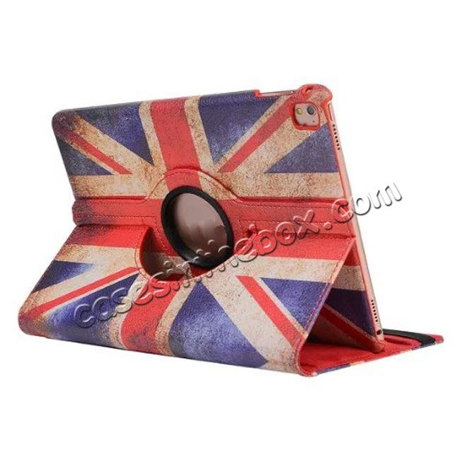 wholesale 360 Degree Rotatary Retro UK Flag Pattern Leather Case for iPad Pro 9.7inch