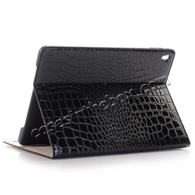 wholesale Crocodile Texture Magnetic Flip Stand Leather Case for 9.7-inch iPad Pro - Black