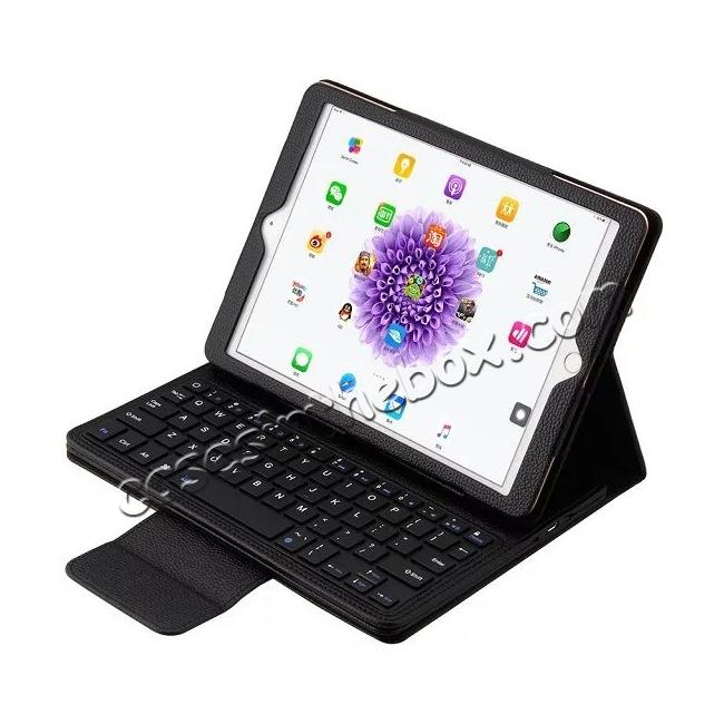 wholesale Detachable Wireless Bluetooth Keyboard PU Leather Case For 9.7-inch iPad Pro - Black