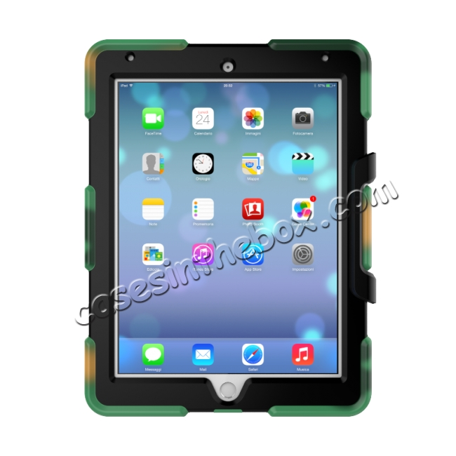 cheap Heavy Duty Hybrid Dual Layer Shockproof Armor Stand Cover Case For iPad Pro 9.7inch