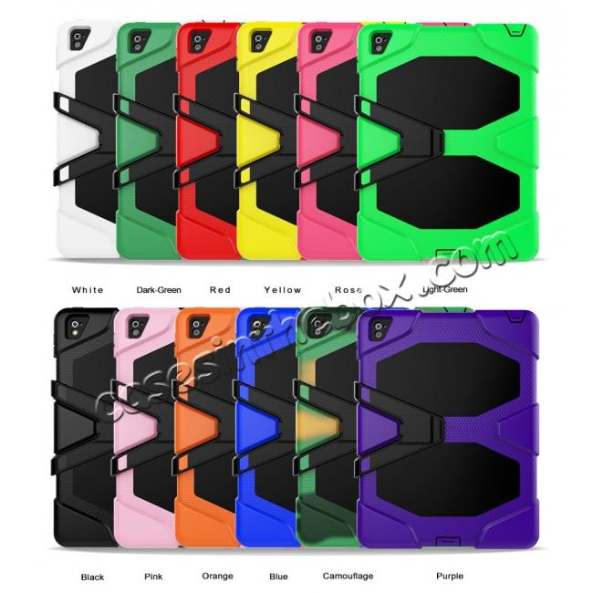 wholesale Heavy Duty Hybrid Dual Layer Shockproof Armor Stand Cover Case For iPad Pro 9.7inch