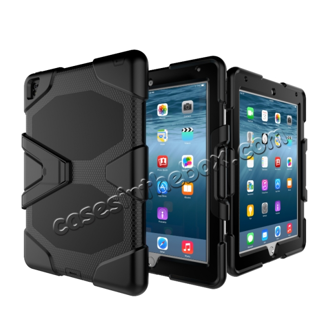 on sale Heavy Duty Hybrid Dual Layer Shockproof Armor Stand Cover Case For iPad Pro 9.7inch