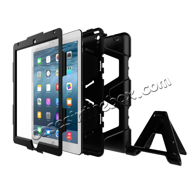 low price Heavy Duty Hybrid Dual Layer Shockproof Armor Stand Cover Case For iPad Pro 9.7inch