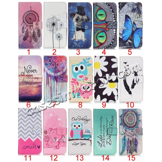 wholesale Fashion Leather Wallet Flip Stand Case with Card Slots For Motorola MOTO G4 Play