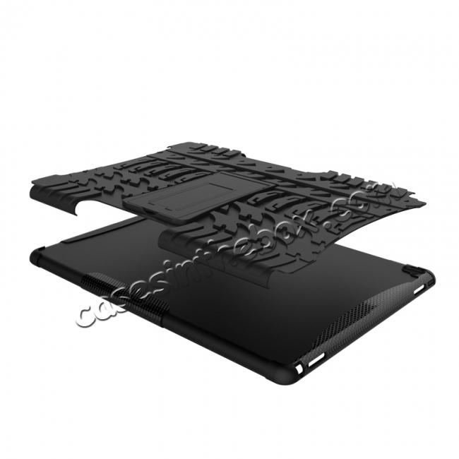 on sale Hyun Texture ShockProof Dual Layer Hybrid Stand Protective Case For iPad Pro 9.7inch - Black