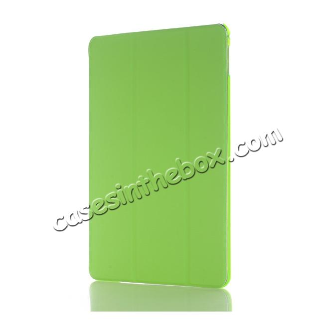 discount Ultra-Slim Transparent Plastic And PU Leather Smart Cover for iPad Pro 9.7 inch  - Green