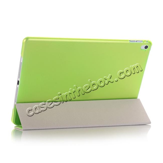best price Ultra-Slim Transparent Plastic And PU Leather Smart Cover for iPad Pro 9.7 inch  - Green