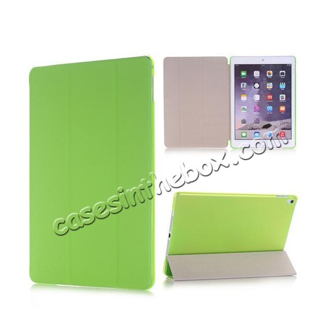 wholesale Ultra-Slim Transparent Plastic And PU Leather Smart Cover for iPad Pro 9.7 inch  - Green