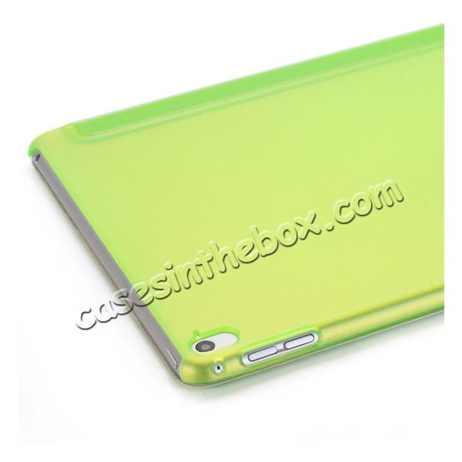 on sale Ultra-Slim Transparent Plastic And PU Leather Smart Cover for iPad Pro 9.7 inch  - Green