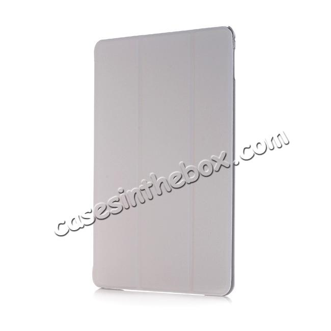 discount Ultra-Slim Transparent Plastic And PU Leather Smart Cover for iPad Pro 9.7 inch  - Grey