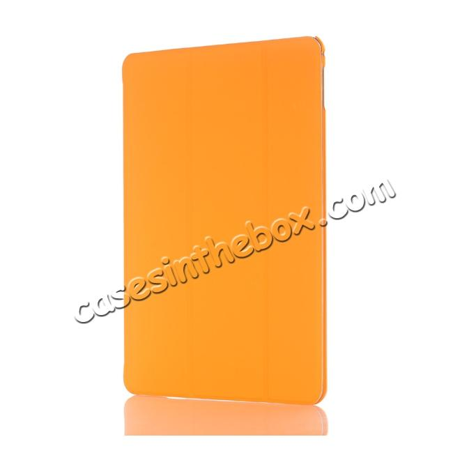 discount Ultra-Slim Transparent Plastic And PU Leather Smart Cover for iPad Pro 9.7 inch  - Orange