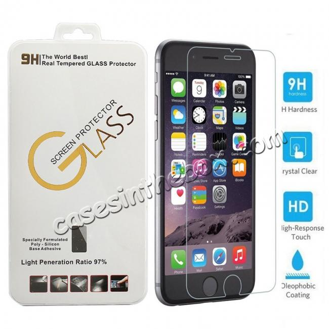 wholesale 9H 2.5D Premium Real Tempered Glass Guard Screen Protector Film For iPhone 6 Plus/6S Plus 5.5 Inch
