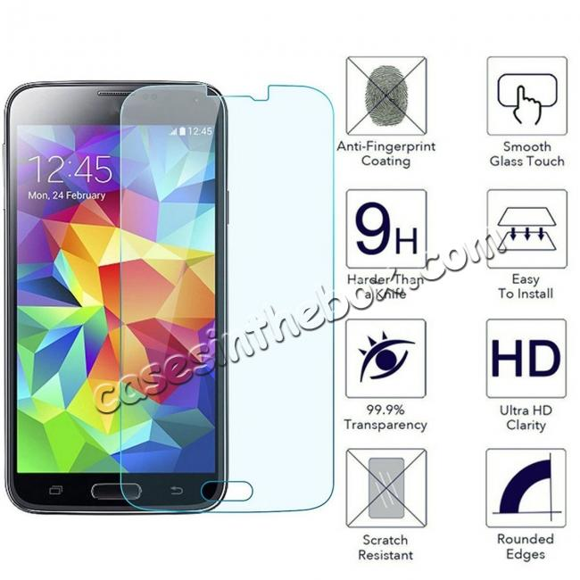 wholesale Anti-Scratch HD Clear Tempered Glass Screen Protector for Samsung Galaxy S5