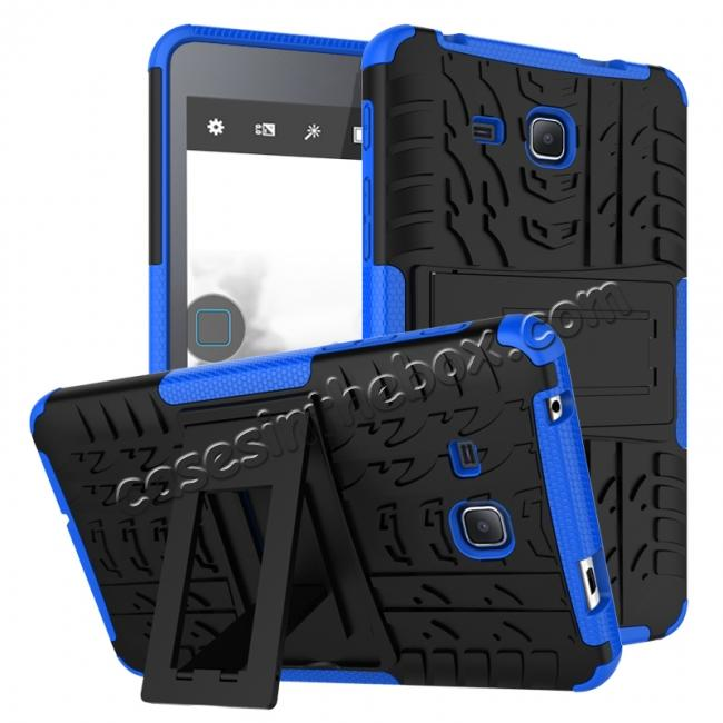 wholesale Hybrid Dual Layer Tough Kickstand Protective Case for Samsung Galaxy Tab A (2016) T280 - Blue